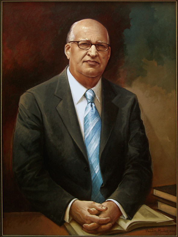 Retrato Dr Enerio Rodríguez, 40x30 pulgs, Dustin Muñoz, 2012