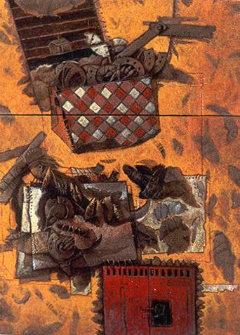 Figuras del futuro ll, 36x24 pulgs, Dustin Muñoz, 2000