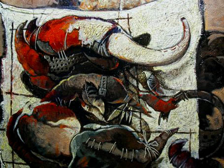 Formas de toro -detalle-, 40x30 pulgs, Dustin Muñoz