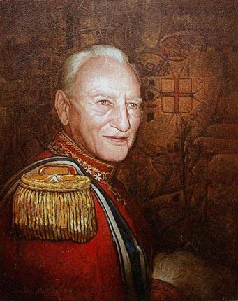 Retrato Fra Andrew Bertie, Príncipe de la Orden de Malta, Dustin Muñoz, 2009