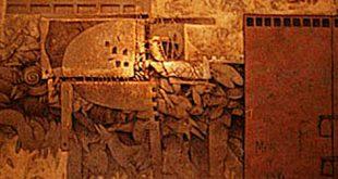 La puerta de los inconformes I, 70x70 pulg, Dustin Muñoz 1998. Obra ganadora XXI Bienal Nacional de Artes Visuales