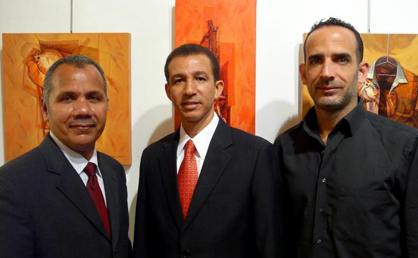 Los artistas Miguel Valenzuela, Dustin Muñoz, José Pelletier