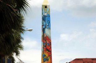 Alegoría a la Libertad, mural Obelisco Malecón SD. Fuente externa