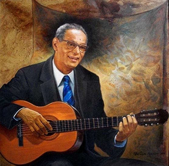 Retrato Juan Lockward, 40x40 pulgs, Dustin Muñoz, 2011