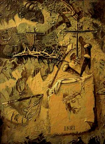 Sexta Estación, 20x16 pulgs, Dustin Muñoz,1996