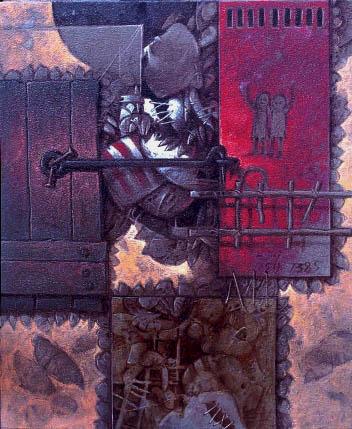 Tres generaciones, 24x20 pulgs, Dustin Muñoz, 2000