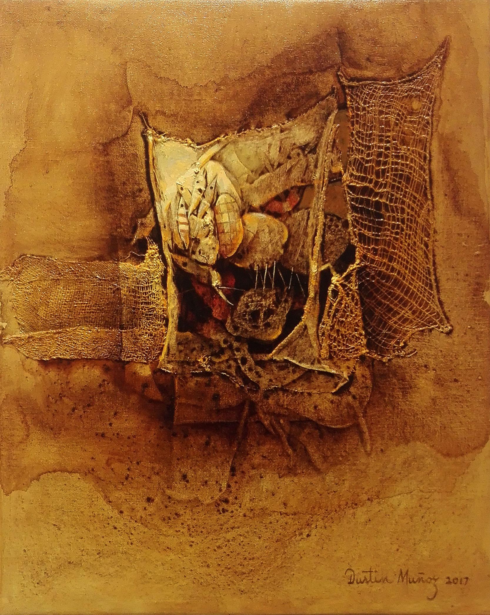 "La cosecha II, 20""x16"", 2017, Dustin Muñoz"